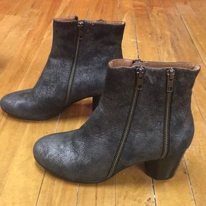 8.5 Grey Suede Booties Gentle Souls Kenneth Cole